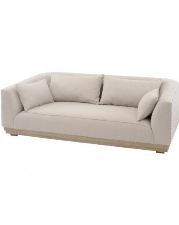 Libra Amerigo Mindi Wood Three Seater Sofa